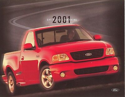 2001 Ford SVT F-150 Lightning Pickup Truck Specification Sales Card (2001 Ford F150 Pickup Truck)