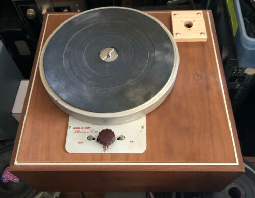 Rek-O-Kut L-34 Rondine Jr. Turntable and Base - Just Serviced - Works Great!