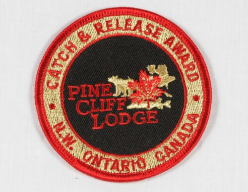 """Pine Cliff Lodge Patches Catch & Release Award 37"""" Northern Pike Ontario Canada"""