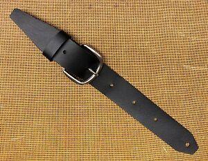 TROPHY USA Retrofit BLACK Leather Guitar Strap Extender & Buckle Adaptor UNIQUE