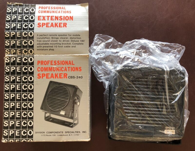 SPECO Professional Communications Speaker CBS-240 with Bracket Appears NEW!