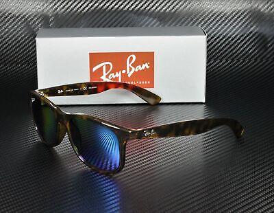RAY BAN RB4202 710 9R Shiny Havana Green Blue Polarized 55 mm Men's (Ray Ban Shiny Havana)