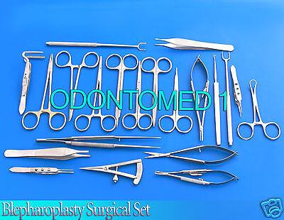 24 Pcs Blepharoplasty Surgical Instrument Setodm-619