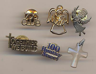 Christian 700 Club Together We Build 100 Huntley St Tie Lapel Pins Pat Robertson