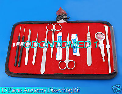 13 Pieces Anatomy Dissecting Kit -surgical Medical Taxidermy Student Instruments