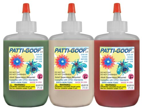 PATTI-GOOP 3-PACK SGR FLESH BLOOD MADE FOR CREEPY BUGS TOYS RUBBERY CRAWLERS