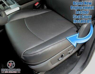 2011 Dodge Ram 2500 3500 Laramie-Driver Side Bottom Leather Seat Cover Dark Gray