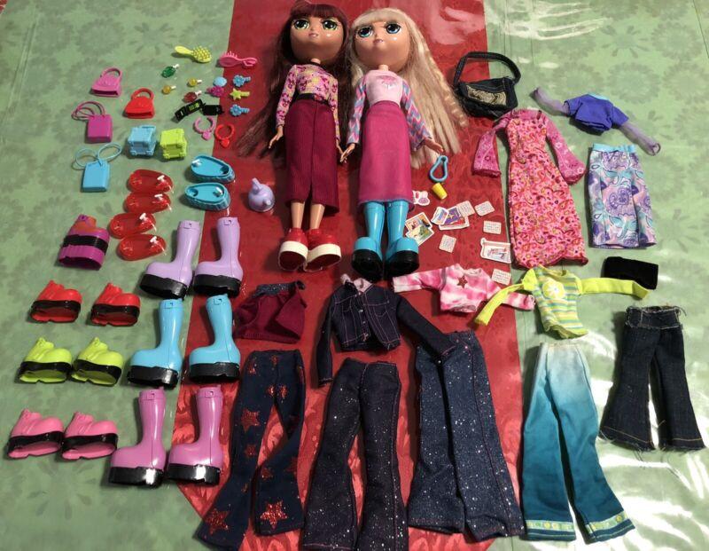 "DIVA STARZ  Miranda & Nikki Lot - 12"" Talking Doll - 2001 Mattel - Clothes Shoes"