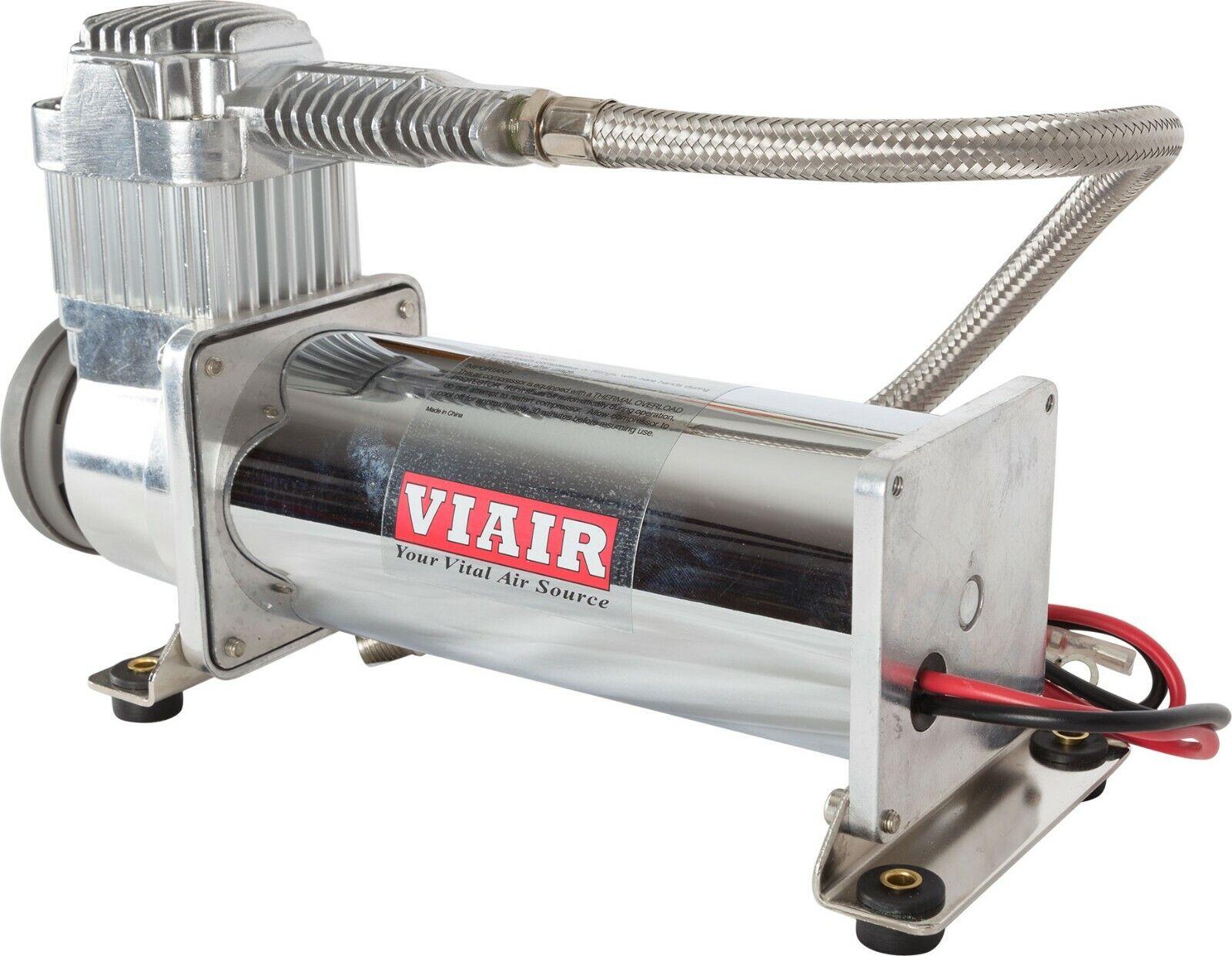 ::VIAIR 444C Chrome Constant Duty Truck Mount Air Compressor - 12 Volt, 200 PSI