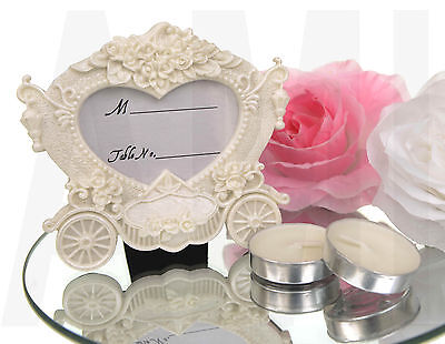 CLEARANCE SALE NEW GORGEOUS WEDDING CARRIAGE PLACE CARD NAME HOLDER PHOTO FRAME