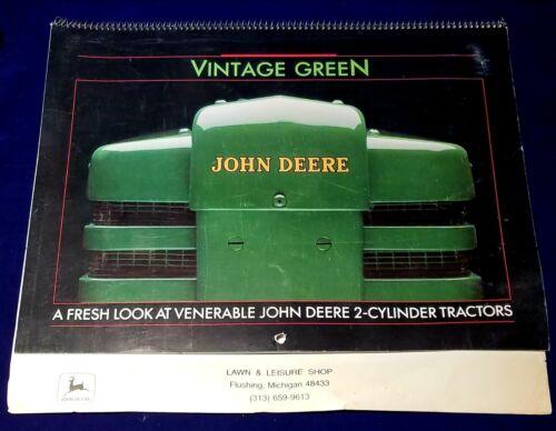 1989 John Deere Calendar Green Two-Cylinder Tractors Lawn and Leisure Shop MI