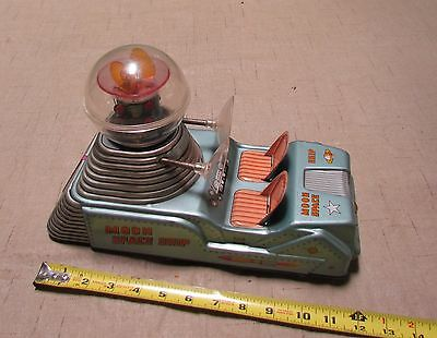 """RARE WORKING 1950's LINEMAR """" MOON SPACE SHIP """" TIN LITHO BATTERY OPERATED"""