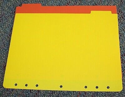 7-hole Monarch Folio Planner Accessory 2 Plastic Dividers Inserts Set Franklin