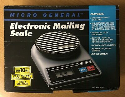 Micro General Electronic Mailing Scale Up To 10 Lbs W Fold-away Letter Stand