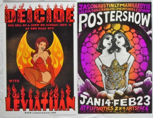Jason Austin/Lyman Hardy Postershow + Deicide NYC Don Hill