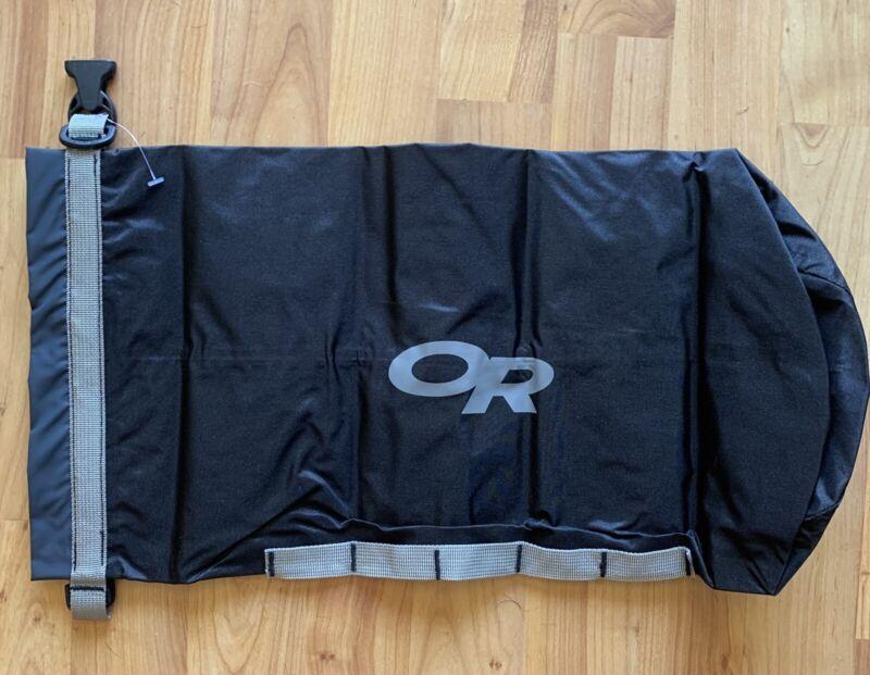 Outdoor Research Hydroseal Dry Sack #1 Waterproof camping kayaking NEW BLACK