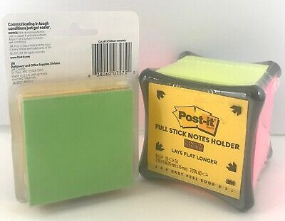 Post-it Super Sticky Full Stick Notes Holder Cube 2x Sticking Power Refill