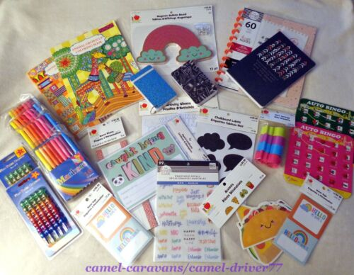 LOT Home School CRAFT Supplies TEACHER Student CLASSROOM Markers Stickers Reward