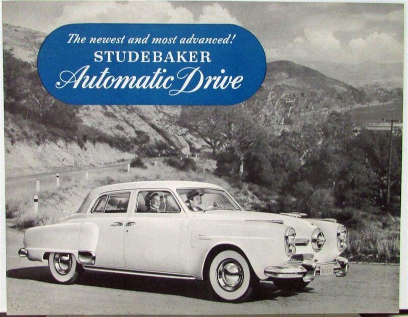 1950 Studebaker Automatic Drive Sales Brochure Folder Original