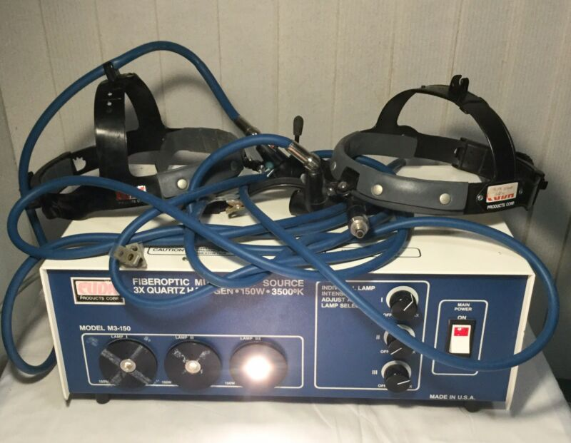 Cuda Dental/Surgical Head Light System M3-150 One Port Fiberoptic Light Source