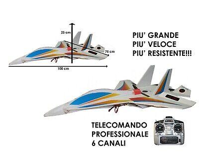 Modellino Aeroplano SU-27 Radiocomandato con LED Volo Notturno Aereo Telecomando
