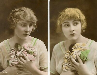Isobel Elsom, Edwardian actress / lady, British Beauty postcards x2