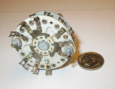 CERAMIC ROTARY SWITCH NON SHORTING  6 POLE - 2 POSITIONS CENTRALAB   NOS  1 PCS.