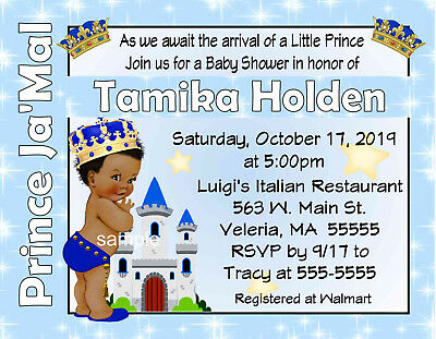 20 LITTLE PRINCE BABY SHOWER INVITATIONS  W/ENVELOPES - Little Prince Baby Shower Invitations