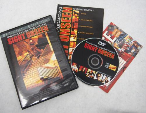 Transworld Sight Unseen Special Edition Skate Video Skateboarding DVD Rare!