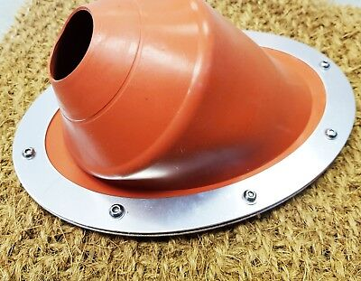 45º Angle Bell Tent Stove Wood Burner Flue Flashing Kit for Tipi Yurt Shed Boat