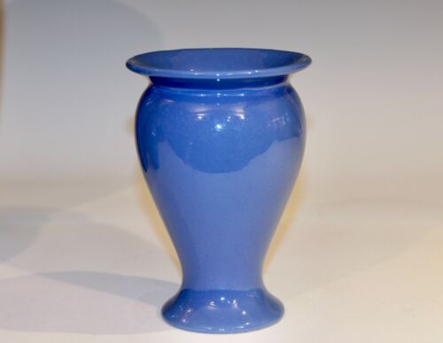 Uhl Cannelton Vintage Arts & Crafts Vase Bybee Indiana Blue Pottery Southern