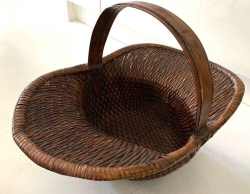 Antique Japanese Bamboo Woven Basket
