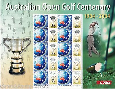 2004 Australian Open Golf Cenenary Sheet - Unmounted Mint