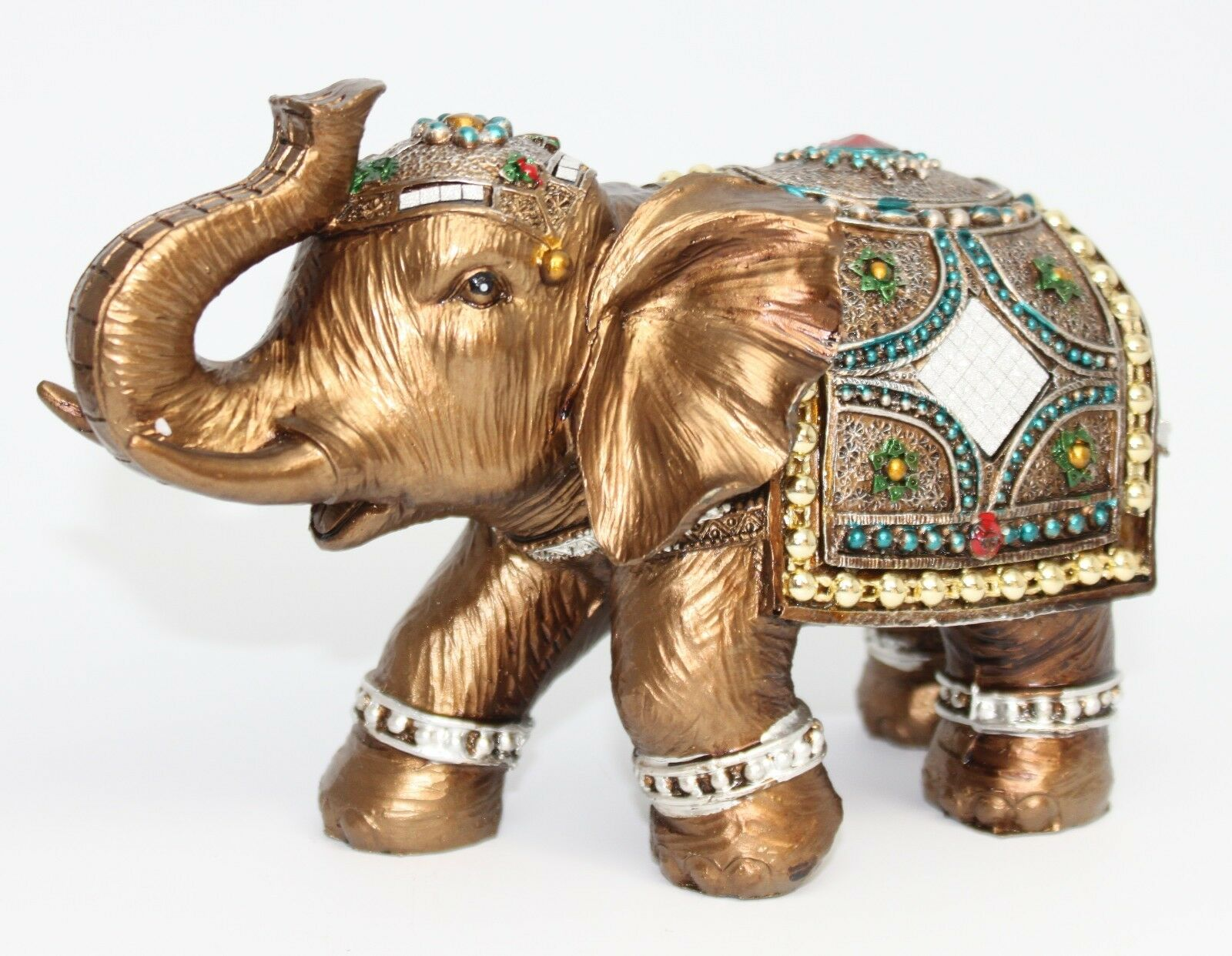 Feng Shui Elegant Elephant Trunk Statue Lucky Wealth