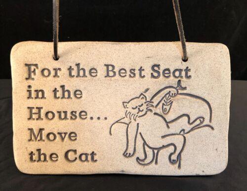 Cat Seat Plaque