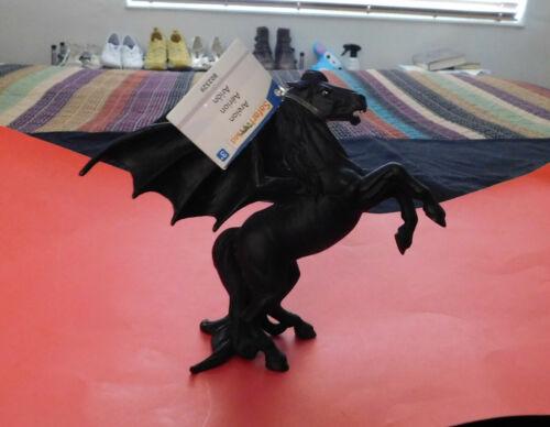 Safari Ltd Mythical & Magical Black Winged Horse Areion with SAFARI tag PEGASUS