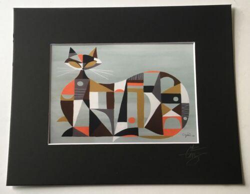 Купить EL GATO GOMEZ RETRO VINTAGE MID CENTURY MODERN EAMES ABSTRACT CUBIST CAT 1950'S
