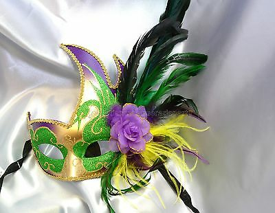 Mardi Gras Masquerade Eyes Mask Ostrich high school graduation sweet 16s Party](High School Graduation Parties)