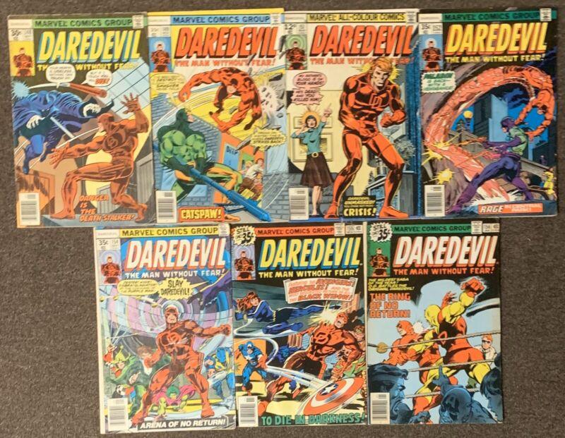 Daredevil #148,149,151,152,154,155,156 Marvel Comics 1977 Lot