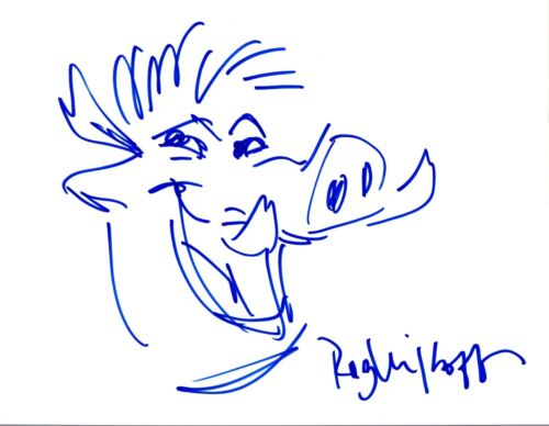 Rob Minkoff Signed Autographed Hand Drawn Sketch The Lion King Director COA VD