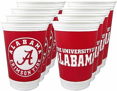 Alabama Crimson Tide 16 oz. Beverage Cups - 8 per set
