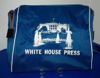Vintage Pan Am Airlines White House Press News Reporter Travel Bag 1960 Rare a9