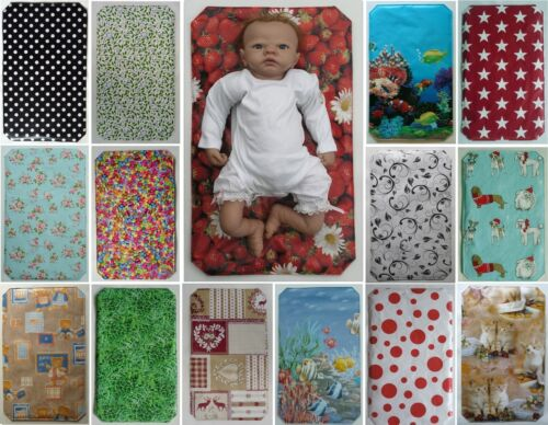 BABY TRAVEL CHANGING MAT - Oilcloth - Wipe Clean Both Sides