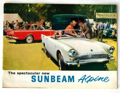 1963 Sunbeam Alpine Sales Brochure Alpine Gran Turismo Alpine Sports Touring Vtg