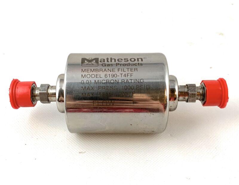 "🌟Matheson 6190-T4FF Inline Gas Filter, 0.01 Micron, 1/4"" x 1/4"" Tube"