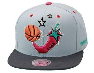 e2bc934a4da3a Mitchell   Ness NBA All Star Game Snapback GREY PINK PEPPER Lebron South  Beach 9