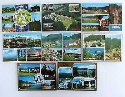 8 x Tschechien, CSSR. Tschechoslowakei Lot Postcards ungelaufen Mehrbildkarten