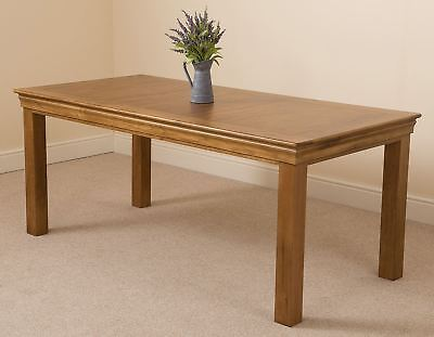 French Rustic Solid Oak Wood 180cm Table Wooden Kitchen Dining Room Furniture