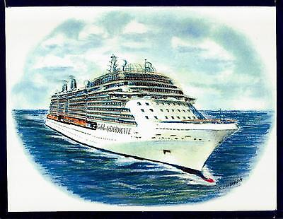 Original Art Work  Celebrity Silhouette  Celebrity Cruises   Cruise Ship