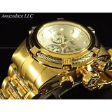 New Invicta Men 18K Gold Plated Stainless Steel Bolt Zeus Chronograph Watch !!